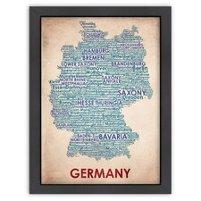 <strong>Americanflat</strong> Typography Maps Germany Poster