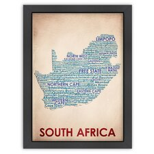 Typography Maps South Africa Poster