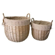 Lined Linen Bin (Set of 2)