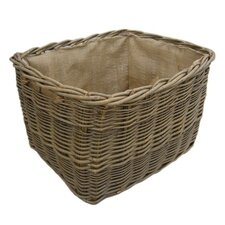 Extra Large Rectangular Lined Log Basket