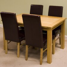 Lyon Oak 5 Piece Dining Set