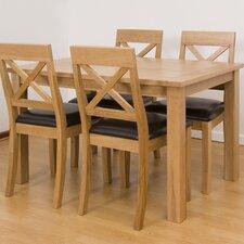 Cubic Oak 5 Piece Dining Set