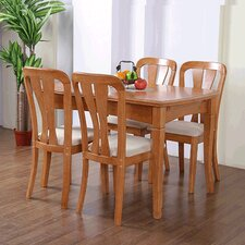 Cubic Oak 5 Piece Dining Set