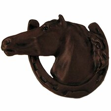 "Curiosities 2.5"" Cabinet Horse in Horseshoe Knob"