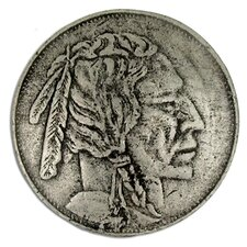 "Curiosities Indian Head Nickel 1.5"" Round Knob"
