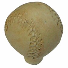 "<strong>Anne at Home</strong> Curiosities Baseball 1"" Round Knob"
