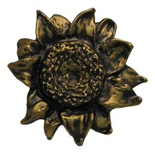 Fruits of Nature Sunflower Pull in Distressed Rubbed Bronze