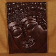 <strong>Miami Mumbai</strong> Wood Panels Buddha with Indian Band Wall Décor