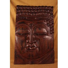 <strong>Miami Mumbai</strong> Wood Panels Buddha Eyes Open Wall Décor