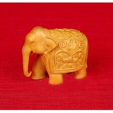 <strong>Miami Mumbai</strong> Wood Carvings Elephant Figurine