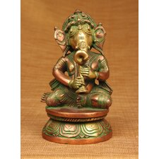 Brass Series Ganesha Playing Different Instruments Figurine
