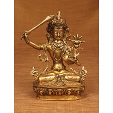 Brass Series Manjushri Figurine
