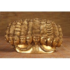 Brass Series Rawana 10 Face Figurine