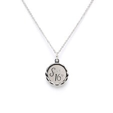 <strong>Jewelryweb</strong> Sterling Silver Sweet Sixteen Disc Charm
