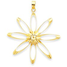 <strong>Jewelryweb</strong> 14K Fancy Flower Pendant