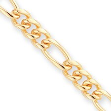 Gold-plated 7mm Figaro Necklace