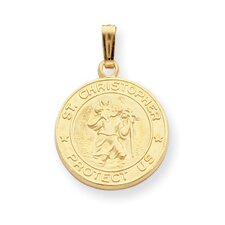 Gold-plated St. Christopher Medal Necklace - 24 Inch