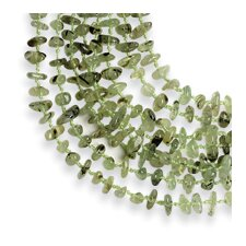 Hand Knotted Prehnite Polished Stone Necklace - 18 Inch- Lobster Claw
