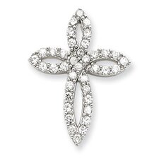 Sterling Silver CZ Passion Cross Pendant