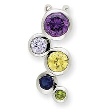Sterling Silver Multi-Color CZ Pendant