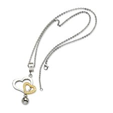 <strong>Jewelryweb</strong> Stainless Steel Heart Pendant- 22 Inch