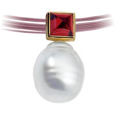 14k  S. Sea Cultured Pearl Gar. Pendant6mm12mmFine Circle