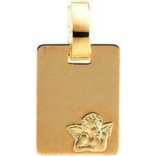 14k Yellow Gold Angel Pendant12x9mm
