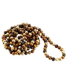 <strong>Jewelryweb</strong> Freshwater Cultured Dyed Chocolate 8-9mm Cultured Pearl Necklace