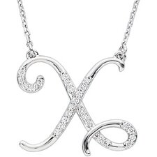 <strong>Jewelryweb</strong> Sterling Silver Diamond Necklace X 1/8ct