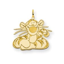Sterling Silver Disney Tigger Charm in Plated Metal