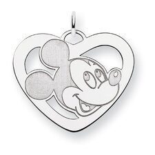 Sterling Silver Disney Mickey Heart Charm