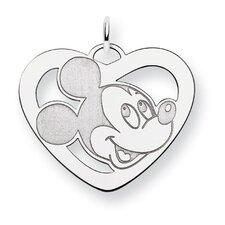 Sterling Silver Disney Mickey Heart Charm