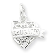 Sterling Silver Heart Daughter Charm