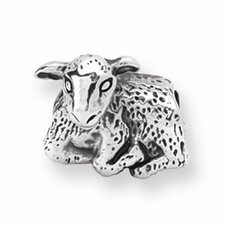 <strong>Jewelryweb</strong> Sterling Silver Reflections SimStars Lamb Bead Charm