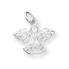 Sterling Silver Filigree Angel Charm