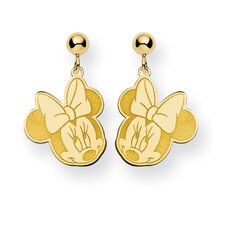 Gold-plated SS Disney Minnie Dangle Post Earrings