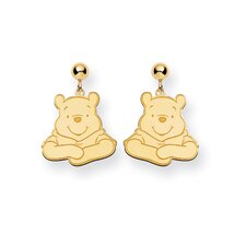 Gold-plated SS Disney Winnie the Pooh Dangle Post Earrings