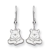 Sterling Silver Disney Winnie the Pooh Dangle Wire Earrings