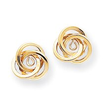 <strong>Jewelryweb</strong> 14k Polished Love Knot Earrings Jackets