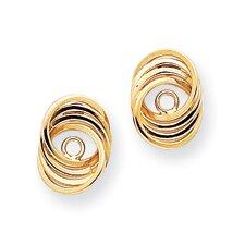 14k Polished Love Knot Earrings Jackets