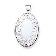 <strong>Jewelryweb</strong> Sterling Silver Oval Locket