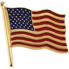14k American Flag Lapel Pin