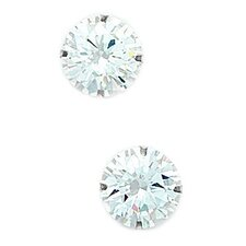 Round Cut Cubic Zirconia Light Prong Stud Earrings