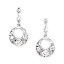 Fancy Cubic Zirconia Drop Earrings