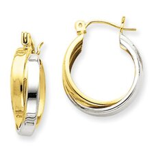 <strong>Jewelryweb</strong> Double Hoop Earrings
