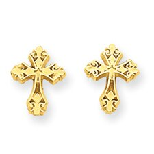 <strong>Jewelryweb</strong> Cross Stud Earrings
