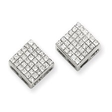 <strong>Jewelryweb</strong> Princess Diamond Stud Earrings