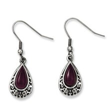 Cats Eye Teardrop Drop Earrings