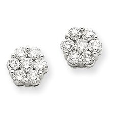 <strong>Jewelryweb</strong> Diamond Cluster Stud Earrings