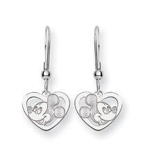 Disney Mickey Heart Cut Post Earrings
